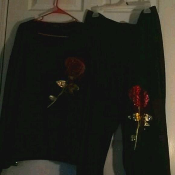 2pc. Black Sweat Suit